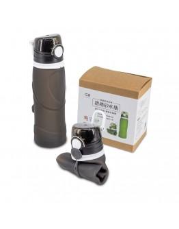 捲捲矽水瓶750ml-夜空黑