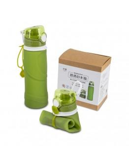 捲捲矽水瓶750ml-大地綠