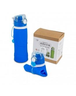 捲捲矽水瓶750ml-湛海藍