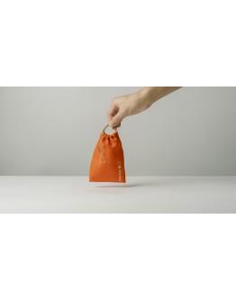 淨塑矽吸管&三稜膜戳組--單套組朝陽橘