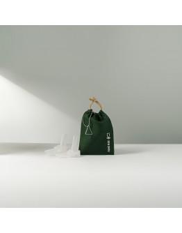 淨塑矽吸管&三稜膜戳組--單套組大樹綠