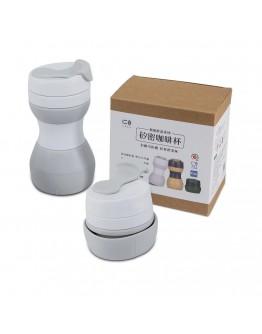 矽密咖啡杯500ml-歐蕾(灰白)