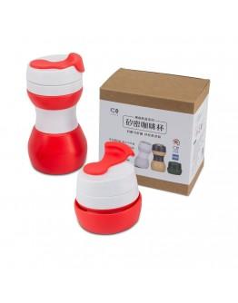 矽密咖啡杯500ml-美式(紅白)