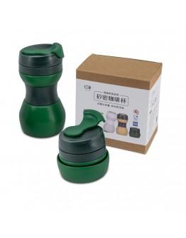 矽密咖啡杯500ml-義式(綠黑)