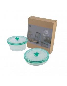 矽密盒圓形600ml-綠矽龜