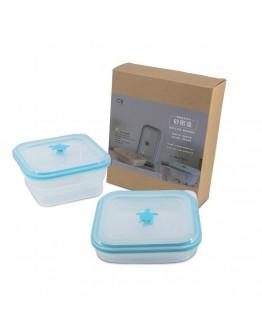 矽密盒正方形900ml-藍矽龜