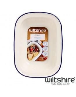 【Wiltshire】手工方形烤盤1000ML - 藍