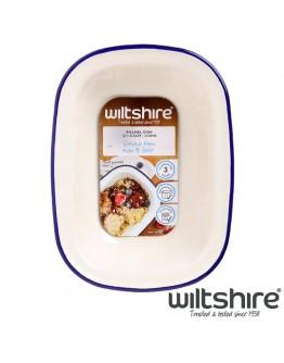 【Wiltshire】手工方形烤盤200ML - 藍