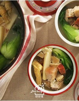 上海菜1:戀戀家繽紛菜飯/冰糖醬鴨/醃篤鮮/加碼--松柏長青
