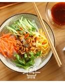 上海菜2:獅子頭燴白菜+菜肉餛飩+三絲涼皮+上海鬆糕