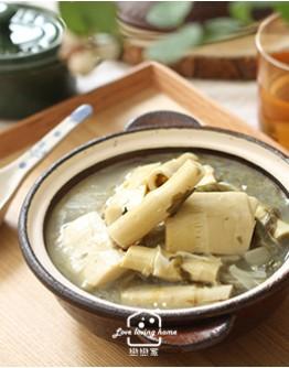 客家菜2:油炆筍/客家冷油雞/客家鹹豬肉(加碼鹹豬肉白肉版本)/擂茶麻糬煎