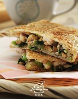 川味料理1:川味豆花牛肉/魚香鍋餅/干鍋花菜/豆花甜品