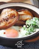 3/04(四)日式料理2:蔥鹽叉燒肉蓋飯/柳葉魚南蠻漬/野菜天婦羅及沾醬/紫蘇蘋果