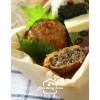 日式料理7:佃煮黑豆/料亭定番小菜:涼拌貢菜/爆汁可樂牛肉餅/浮島蛋糕/手捏鮭魚烤飯糰