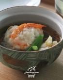 日式料理5:葛粉胡麻豆腐/赤味噌牛筯飯/鮮蝦山藥丸子百合羹/