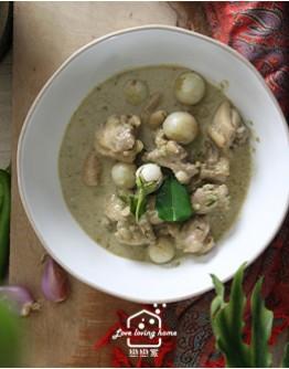 泰式料理2:香檸薄荷雞粒沙拉/蕉葉紅咖哩蒸魚/綠咖哩雞/香茅水果冰沙