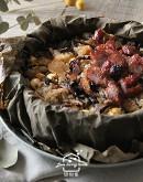 港式料理1:四喜糯米荷葉飯/蜜汁叉燒肉/秋季滋養老火煲湯/黑糖糕