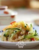 節令料理系列1:京都排骨+酸菜魚片湯+涼拌海蜇皮+軟心和菓子