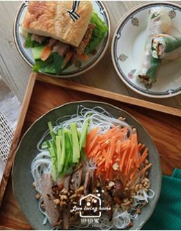 5/13(四) 越式料理1:香茅松坂烤肉米線/越式牛肉湯/大理石紋水果冰淇淋(免冰淇淋機)