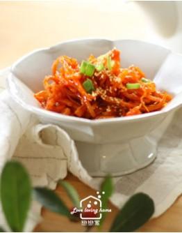 6/23(二)韓式料理2:韓式馬鈴薯燉排骨/糖醋肉/辣拌魷魚絲/脆皮營養年糕派