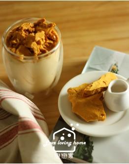 韓式料理3:山東燒雞+牛肉明太魚湯+辣味馬鈴薯小菜(加碼:不辣版本馬鈴薯小菜)+蜂巢糖餅
