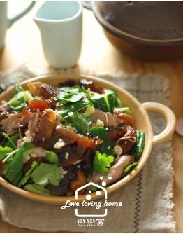 7/04(六) 韓式料理3:山東燒雞+牛肉明太魚湯+辣味馬鈴薯小菜(加碼:不辣版本馬鈴薯小菜)+蜂巢糖餅