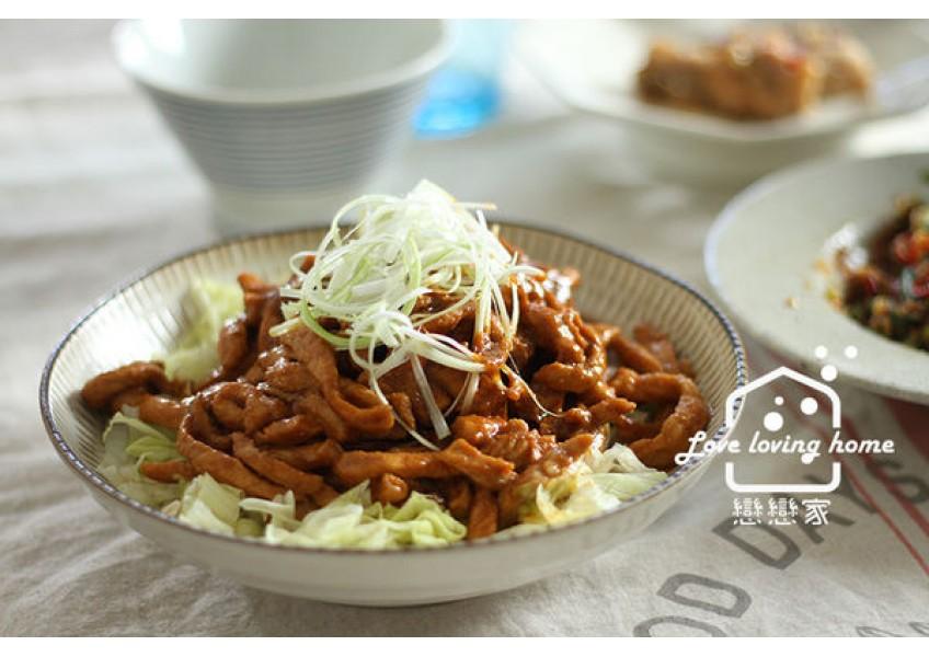 《低醣生酮》京醬肉絲。用高營養低醣的台灣黃醬,不用過油、不用勾芡一樣好吃