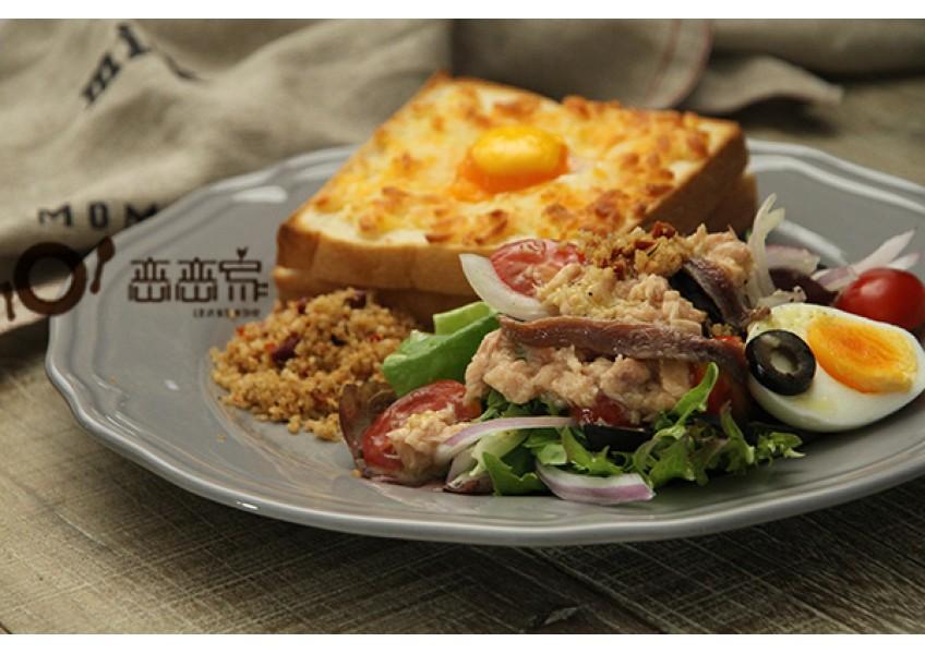 影音食譜:更多藜麥新吃法~藜麥尼斯沙拉+法式庫克太太藜麥三明治(內含藜麥鯷魚奶油醬作法)