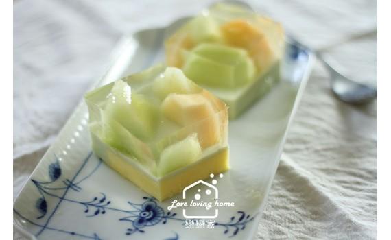 雙色哈密瓜果涷蛋糕 |戀戀家