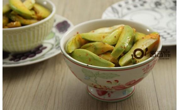 酸甜微辣的東南亞風芒果青,健康點心,一吃停不了手呀~~