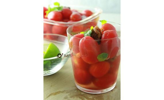 影音食譜:讓媽媽也能放下戒心的開胃小零食:梅漬番茄
