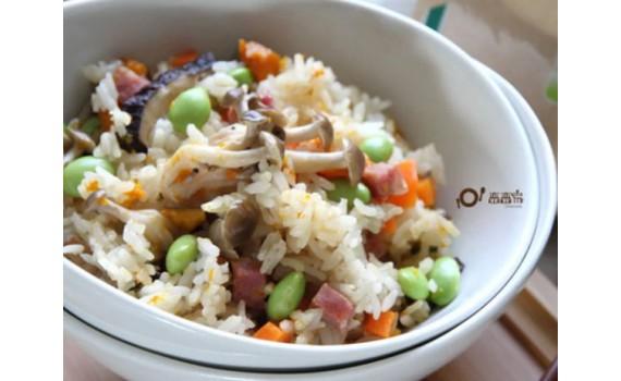 香腸南瓜菇菇炊飯