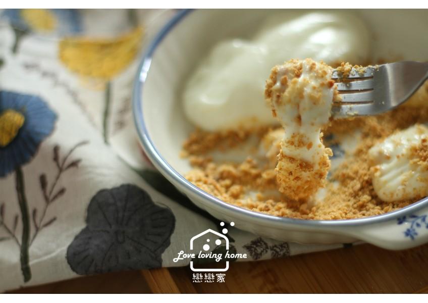鮮奶麻糬,淡水熱門小吃自已做,幫你算好含醣質,減重中也可以吃