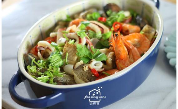 真正的料理神器:蒸、烤、煎、炸、烘功能一次齊發,金銀蒜蒸海鮮+古早味水果涼糕食譜