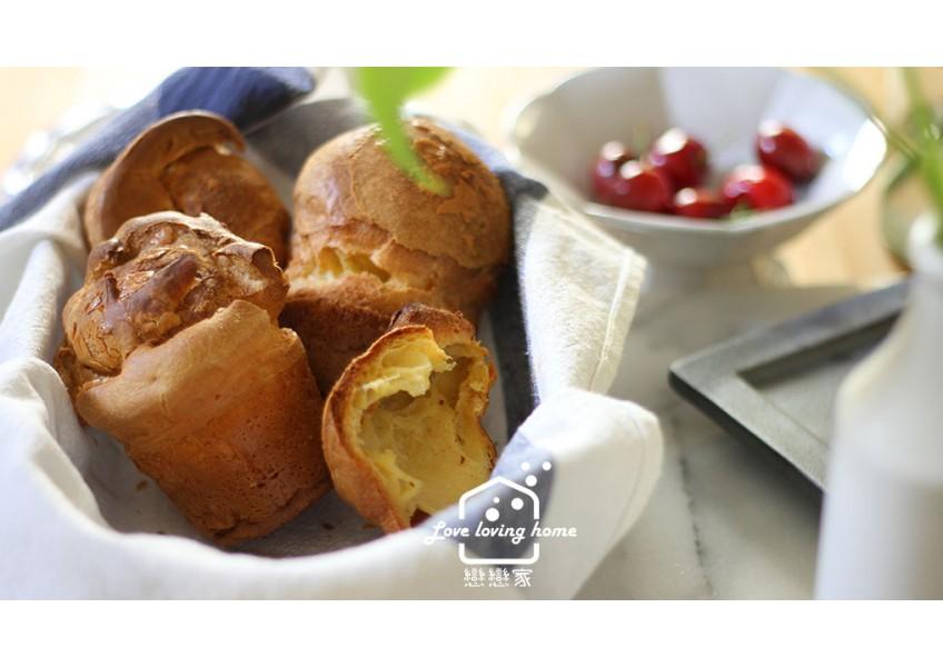 KitchenAid 5Cup食物調理機,打碎、拌勻、打發一機搞定,用它來做快速麵包:泡芙麵包POPOVERS