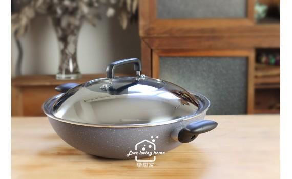 法國特福天然礦物不沾鍋 --體驗礦石灰系列做鍋塌豆腐和Q彈蛋餅皮