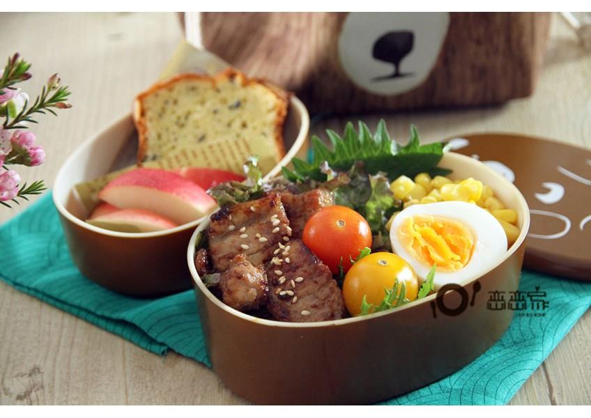 便當日記02:燒肉+海苔蛋糕便當