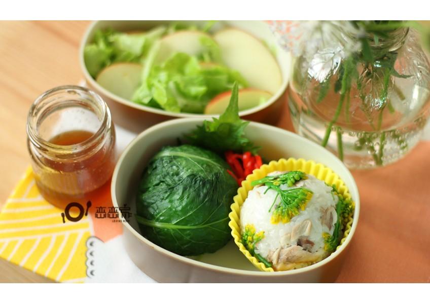 便當日記12:油花菜飯糰二式