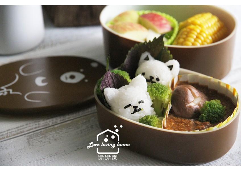 便當日記06:貓咪飯丸+咖哩肉醬便當