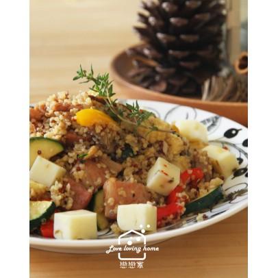 10/13(二)料理的基礎8:咖啡館風料理--檸檬烤春雞+羅宋湯+堅果培根蔬菜庫斯庫斯+優格夾心雲朵蛋糕