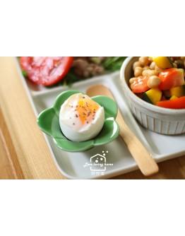 日本有田燒花型蛋杯-綠